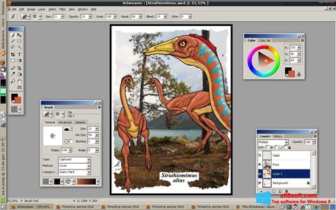 Снимак заслона Artweaver Windows 8