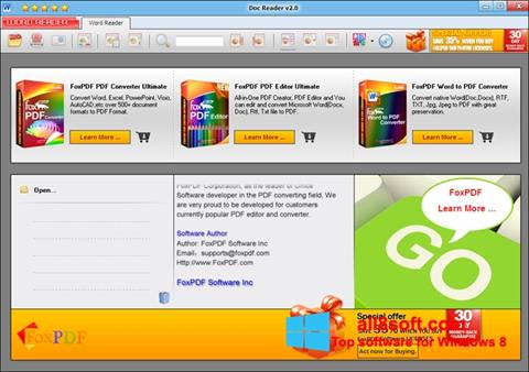 Снимак заслона Doc Reader Windows 8