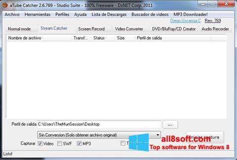 Снимак заслона aTube Catcher Windows 8