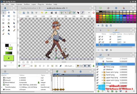 Снимак заслона Synfig Studio Windows 8