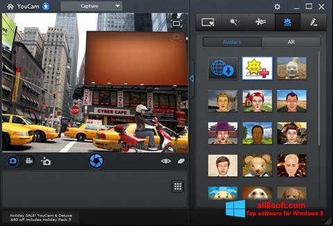 Снимак заслона CyberLink YouCam Windows 8