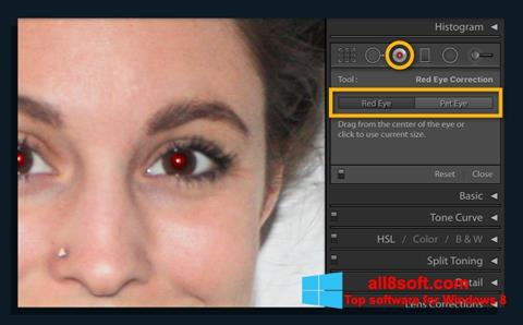 Снимак заслона Red Eye Remover Windows 8