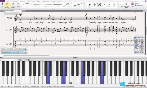 Снимак заслона Sibelius Windows 8