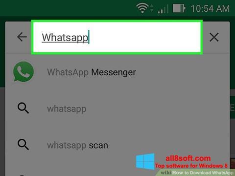 Снимак заслона WhatsApp Windows 8