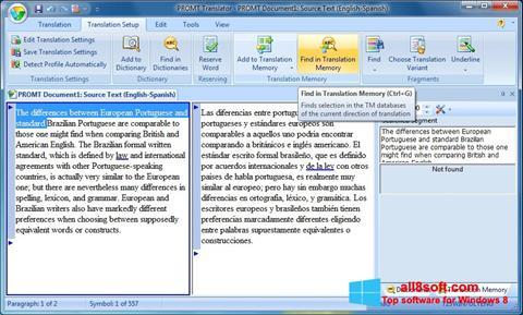 Снимак заслона PROMT Windows 8