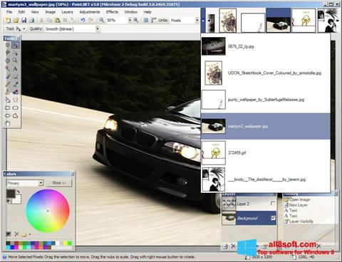 Снимак заслона Paint.NET Windows 8