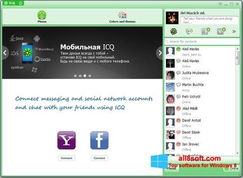 Снимак заслона ICQ Windows 8