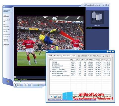 Снимак заслона SopCast Windows 8