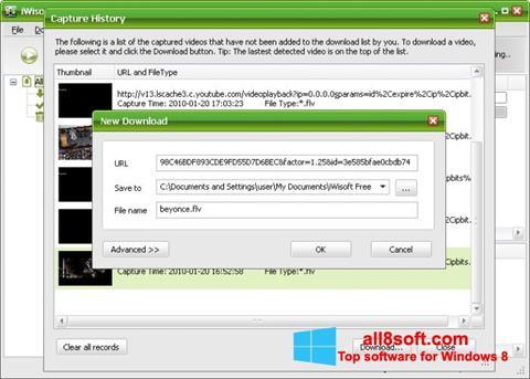Снимак заслона Free Video Catcher Windows 8
