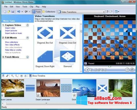 Снимак заслона Windows Movie Maker Windows 8