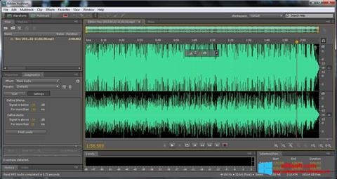 Снимак заслона Adobe Audition Windows 8