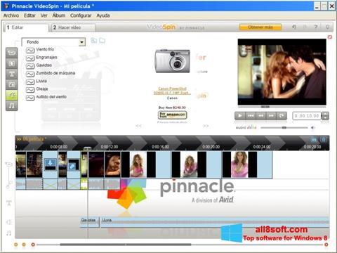 Снимак заслона Pinnacle VideoSpin Windows 8