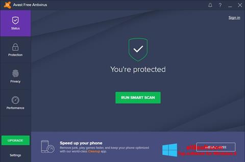 Снимак заслона Avast Free Antivirus Windows 8