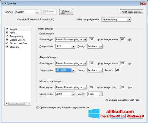 Снимак заслона Adobe Acrobat Pro DC Windows 8