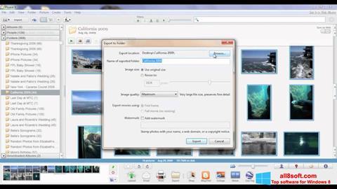 Снимак заслона Picasa Windows 8