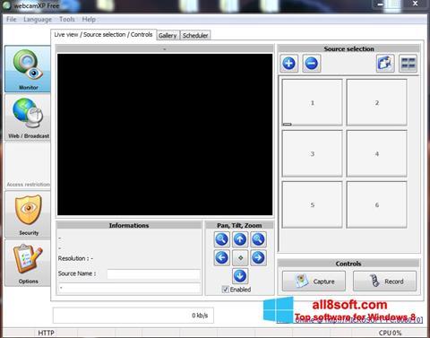 Снимак заслона webcamXP Windows 8