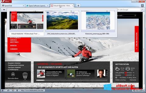 Снимак заслона Opera Windows 8