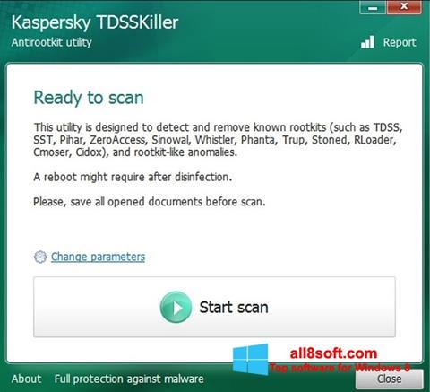 Снимак заслона Kaspersky TDSSKiller Windows 8