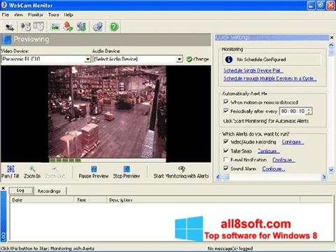 Снимак заслона WebCam Monitor Windows 8