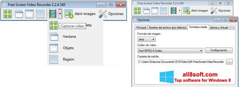 Снимак заслона Free Screen Video Recorder Windows 8