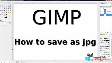 Снимак заслона GIMP Windows 8