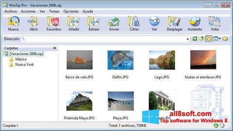 Снимак заслона WinZip Windows 8