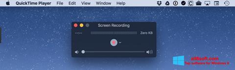 Снимак заслона QuickTime Windows 8
