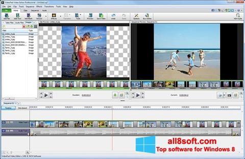 Снимак заслона VideoPad Video Editor Windows 8