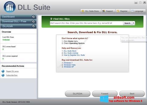 Снимак заслона DLL Suite Windows 8