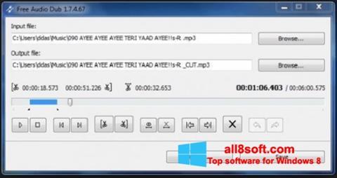 Снимак заслона Free Audio Dub Windows 8