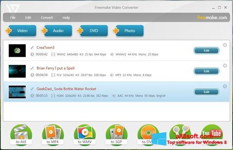Снимак заслона Freemake Video Converter Windows 8