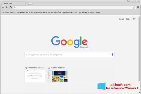 Снимак заслона Google Chrome Windows 8