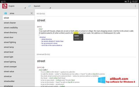 Снимак заслона ABBYY Lingvo Windows 8