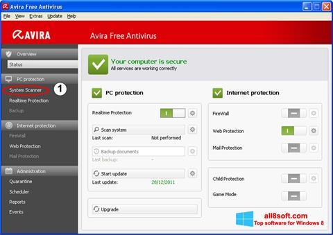 Снимак заслона Avira Windows 8