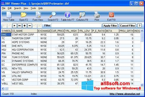 Снимак заслона DBF Viewer Windows 8