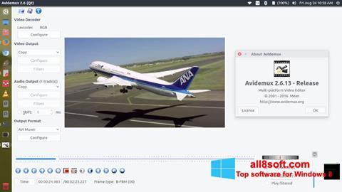 Снимак заслона Avidemux Windows 8